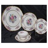 "Castleton USA ""Castleton Rose"" 1950-1972; 8 dinner plates, 7 salad plates, 6 B&B plates 7 cups and s"