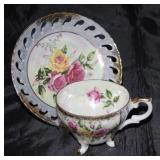 Lusterware Japan footed cup and saucer