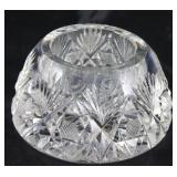 American brilliant cut crystal Paperweight Ink well