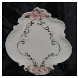 """Applied pink roses Dresser Tray 10"""" x 8"""""""