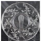 "Cambridge ""Elaine"" rolled edge 14"" torte plate (elegant glass of the depression era 1933-1954)"