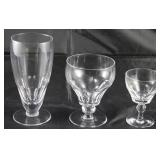 """""""Dorset"""" by Stewart England 1955-1964, 18 iced teas, 19 low water goblets, 26 port wine goblets"""
