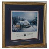 "Thomas Kinkade ""Silent Night"" Framed Print"