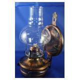 Vintage Copper Tint Wall Oil Lamp with Heat Shield