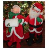 "Anna Lee Large Mr & Mrs Santa Set (32""H)"