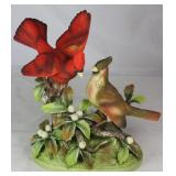 "Andrea by Sadek Porcelain Bisque""Cardinals Group"" (10""H x 10""W x 5""D)"