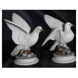 "Andrea by Sadek Porcelain Bisque ""White Dove"" 9""H Figurines purchased in Japan 1975"