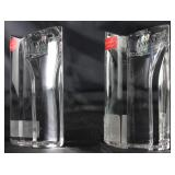 Towle Art Deco Style Heavy Crystal  Candle Holders
