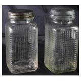Owens-Illinois Vintage Waffle Pattern Quart Fruit Jars c. 1940's