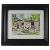 """ Alleynedale Rum Shop on  Alleynedale""  Barbados 8x10 Framed Print by Jim Walker"