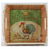 Bistrot Le Coq en Pate Rooster Wood Bread Box