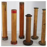 Collection of Large Antique Wooden Spools