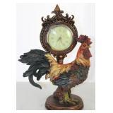 "Richard Ward Winchester Rooster Figural w/Quartz Clock (12""H x 8 1/2""W)"