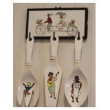 Barbados Ceramic 4 Piece Ceramic Serving Utensils