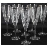 "Cristal D'Arques ""Cassandra"" Champagne Flutes. Set of 8"