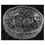 "Bohemian Heavy Hand  Cut Lead Crystal Bowl  (9 1/2""D x 3 1/4"" H)"