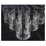 Cut Crystal Old Fashion Tumblers (Set 6)