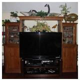 "Sony Bravia 60"" Flat Screen TV  # KDL-60EX701 complete with Stand. Shown with Modified Oak Entertain"