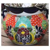 Talavera Hand Painted Mexico Large Planter