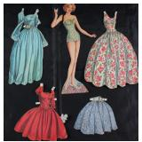 "Vintage Paper Dolls Made in USA with Clothes:  ""Sara"""