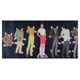 Vintage Paper Dolls Made in USA with Clothes: