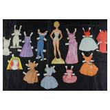 "Mattel Corp 1964 Vintage Paper Dolls Made in USA with Clothes: ""Barbie"""