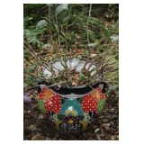 alavera Hand Painted Mexico Large Planter