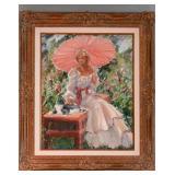 """Summertime""  Original Oil on Canvas by Joyce Reardon.  Framed in a Baroque Style frame"