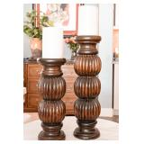 Wood Columns Candle Stand