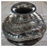 """Polished Hammered Aluminum Vase (16""""W x 16""""H)"""