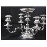 "Israel Freeman  Silver Antique Victorian Epergne Candelabra. (18""D x 11""H)"