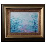 """O Lores de Primavera""/""Spring Colors""  (11"" x 8"") Original acrylic on Canvas Framed"