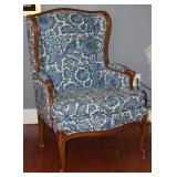 Bernhardt Vintage (Newly Upholstered) Wingback Chair on Cabriole Legs