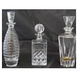 Collection of Cut Crystal Liquor Decanters