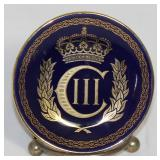 Prince Charles Colbalt Porcelain Souvenir Butter Pat.