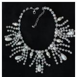 Scaasi Crystal and Pearl Necklace
