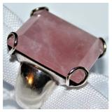 Sterling Rose Quartz Ring