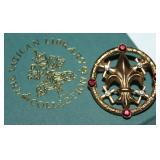 Vatican Jewelry Collection Fleur-de-lis Pin in Original Box