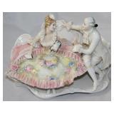 """Karl Ens Courting Scene Porcelain Figu C. 1919-1945 (8""""L x 5 1/2"""" H"""