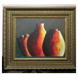 """Columbian Artist, Juan Manuel Gaitan, (B.1960) Original Art Work(12"""" x 9 1/2"""") Framed   (17"""" x 14 1/"""
