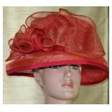 Louise Claire Millinery Walling Ford England Red Derby Hat