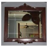 "Bevel Mirror (26"" x 32 1/2"") In Wood Frame (39"" x 39 1/2"" Overall)"