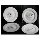 "Set 4 Pottery Barn ""Cheese"" Plate"