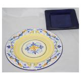 "Pier One: ""Mirandela"" 13"" Service Plate/Charger.         (16 ea.)  and ""Essential Colours"""