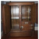 Oak Antique Ice Box (Opened)