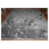 Silver Silky Shine Shag Area Rug (8' x 10')
