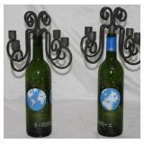 1999 Millennium 2000 Paris Cuvee' Beau-Rivage Bordeaux Bottle Candelabra
