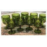 Bartlett Collins Vintage Green Iced Tea Goblets (9 ea.). C. 1960-1970's