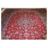 Classic Red Wool Oriental Area Rug.  Handmade  in Iran (10' x 12')