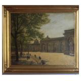 Antique Oil Canvas Signed CFB 1905
